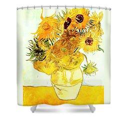 Sunflowers Van Gogh Shower Curtain