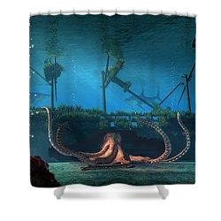 Sunken Shower Curtain by Daniel Eskridge