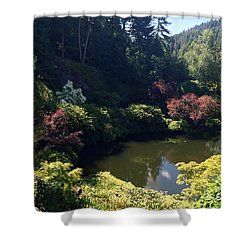 Sunken Lake Butchart Garden Shower Curtain