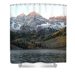 First Light Shower Curtain by Eric Glaser