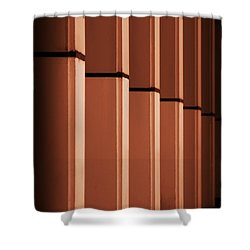 Shower Curtain featuring the photograph Sunkissed Pillars by Baggieoldboy