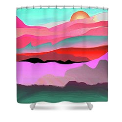 Sunland 3 Shower Curtain by Mary Armstrong