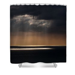Sunlight And Cloud Over The Channel Shower Curtain