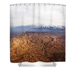 Sunlight And Snow-capped Peaks Shower Curtain