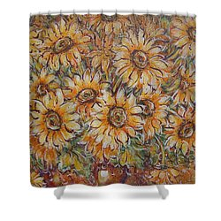 Shower Curtain featuring the painting Sunlight Bouquet. by Natalie Holland