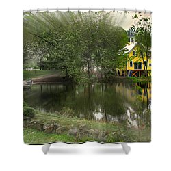 Sunlight Breaks Through On Chocorua Pond Shower Curtain