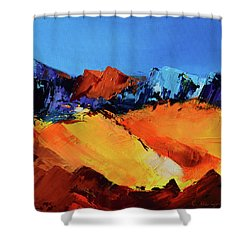 Sunlight In The Valley Shower Curtain