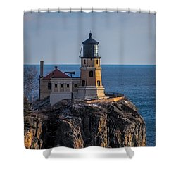 Sunlight On Split Rock Lighthouse Shower Curtain by Paul Freidlund