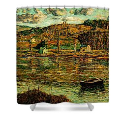Sunlight On The Harlem River 1919 Shower Curtain