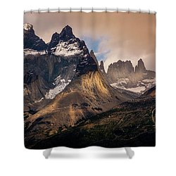 Sunlight On The Mountain Shower Curtain by Andrew Matwijec