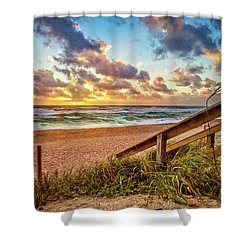 Shower Curtain featuring the photograph Sunlight On The Sand by Debra and Dave Vanderlaan