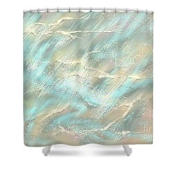 Shower Curtain featuring the digital art Sunlight On Water by Amyla Silverflame