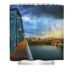 Sunlight Thru Rain Over Chattanooga Shower Curtain