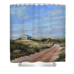 Sunlight's Coming Shower Curtain by Trina Teele