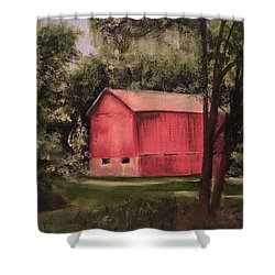 Sunlit Barn Shower Curtain
