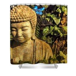 Sunlit Buddha 2015 Shower Curtain