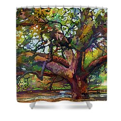 Sunlit Century Tree Shower Curtain