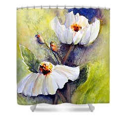 Sunlit Faces - Matilija Poppies Shower Curtain
