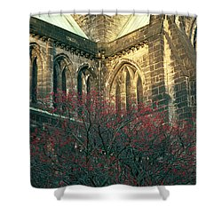 Sunlit Glasgow Cathedral Shower Curtain