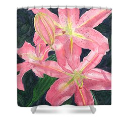 Sunlit Lilies Shower Curtain