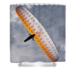 Sunlit Paraglider Shower Curtain
