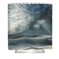 Sunlit Sea Shower Curtain