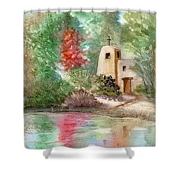 Sunlit Solitude Shower Curtain