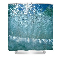 Sunlit Wave Shower Curtain by Vince Cavataio - Printscapes