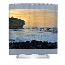 Sunlit Waves - Kauai Dawn Shower Curtain
