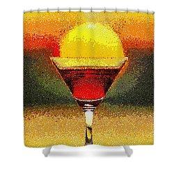 Sunned Wine - Da Shower Curtain