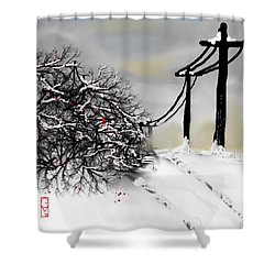 Sunny 28 Below Shower Curtain
