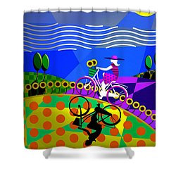 Shower Curtain featuring the digital art Sunny Acres by Randall Henrie