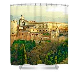 Sunny Alhambra Shower Curtain