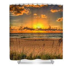 Sunny Beach To Warm Your Heart Shower Curtain by Rod Jellison