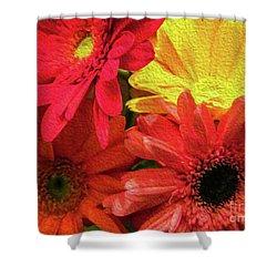 Sunny Daisy Flower Art Shower Curtain
