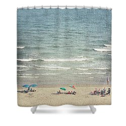 Sunny Day At North Myrtle Beach Shower Curtain