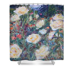 Sunny Day At The Rose Garden Shower Curtain