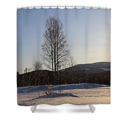 Sunny Day In Norway.  Shower Curtain