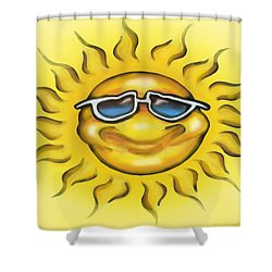 Shower Curtain featuring the painting Sunny by Kevin Middleton