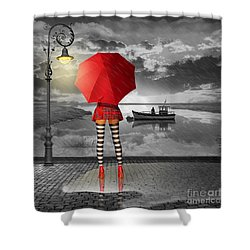 Sunny Outlook Shower Curtain by Monika Juengling