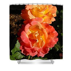 Sunny Roses Shower Curtain