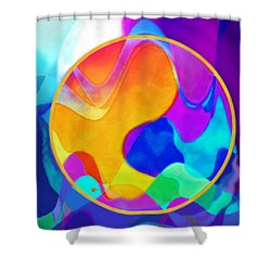 Sunny Sea Unbordered Shower Curtain by Mathilde Vhargon