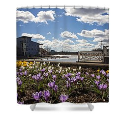 Sunny Spring Flowers In Helsinki Shower Curtain