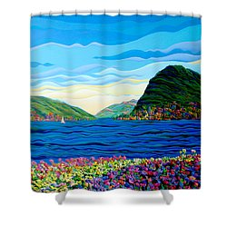 Sunny Swiss-scape Shower Curtain
