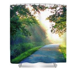 Sunny Trail Shower Curtain