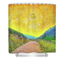 Sunny Trail - Marin California Shower Curtain