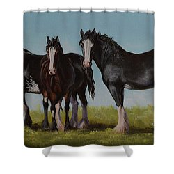 Sunny Trio Shower Curtain