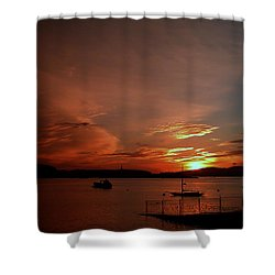 Sunraise Over Lake Shower Curtain