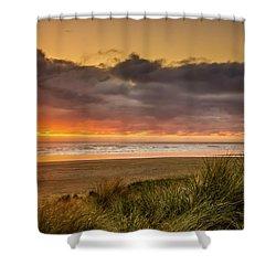 Sunrays Over Manzanita Shower Curtain