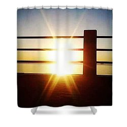 Sunrise @ The Battery Shower Curtain